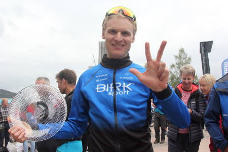 Lars Granberg tok sin tredje strake seier i UltraBirken. Foto: Ingeborg Scheve
