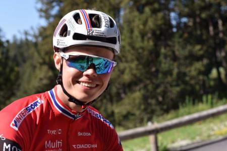 Med sjuendeplassen i kortbanerittet på fredag syklet Erik Hægstad seg inn på første startrekke i rundbanerittet på søndag. Det skulle vise seg avgjørende. Foto: Eddy Knudsen Storsæter