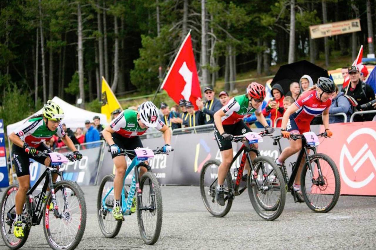 Ingrid Sofie Bøe Jacobsen tok sølv i sprint-VM i 2015, da mesterskapet gikk i Andorra. Foto: Arrangøren