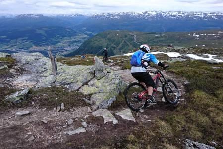 Guidede turer er et populært tilbud på sykkelfestivalene, og Ekstremsprotveko er ikke noe unntak. Foto: Tommy Aslaksen