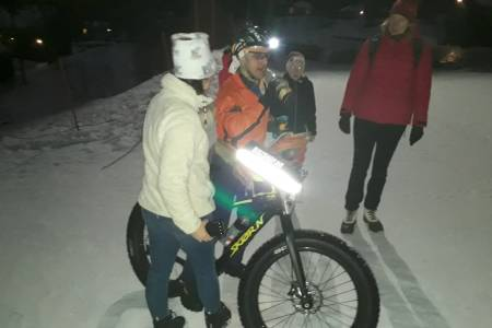 Stian Ulberg en time før målgang på ekstremrittet Fat Viking på Geilo. Foto: Privat