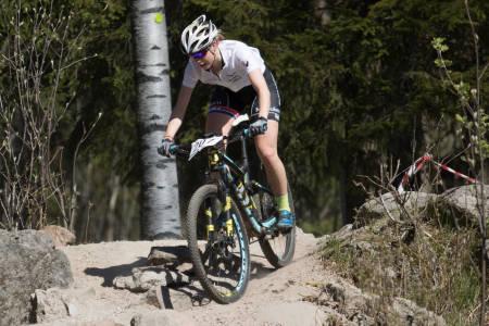 Marit Sveen tok sin første Norgescupseier på to år. Her fra Norgescuprittene på Rye terrengfestival første helga i mai. Foto: Bengt Ove Sannes