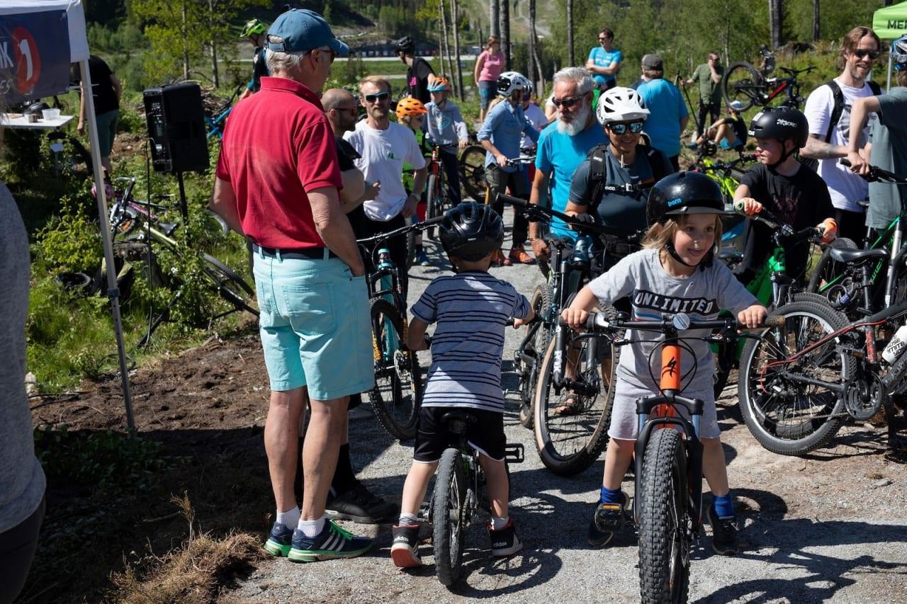 Stor iver og glede da sykkelparken Tottelia Rides åpnet 15. juni. Foto: Hemsedal