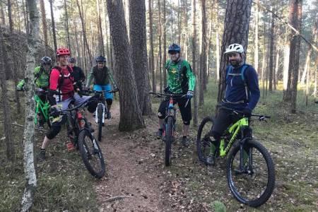 Stisyklistene på Ljanskollen er i høst blitt møtt med skilt om sykkelforbud på stiene i området. De skiltene er ulovlige, sier NOTS. Foto: Aslak Mørstad