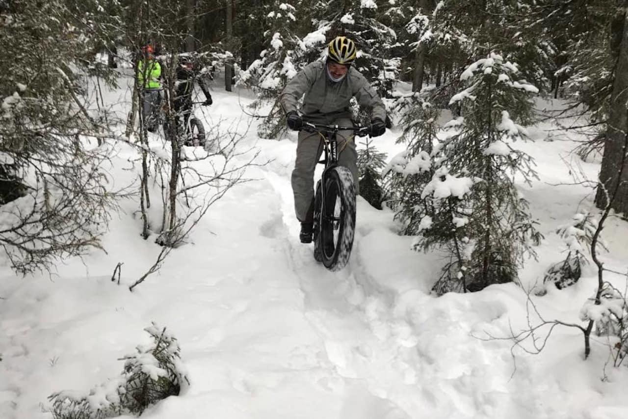 Lillehammer har arrangert fellestur i forbindelse med Global Fatbike Day i flere år. I fjor var det episke snøforhold. Foto: Tom Ruud