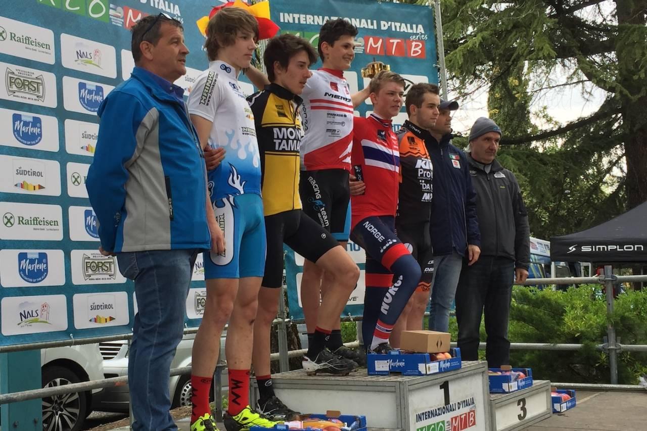 Ole Sigurd Rekdahl syklet inn til tredjeplass i UCI HC-rittet Marlene Südrtirol Sunshine Race i Nals i Italia. Foto: Eddy Knudsen Storsæter