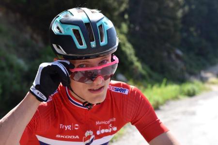 Anders Johannessen syklet inn til ny karrierebeste i verdenscupen i Les Gets i Frankrike i dag. Foto: Eddy Knudsen Storsæter