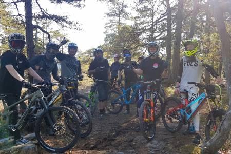 Det var god oppslutning om både Camp Kjerringåsen og Kjerringåsen FunDuro i helga. Foto: BCsport.no
