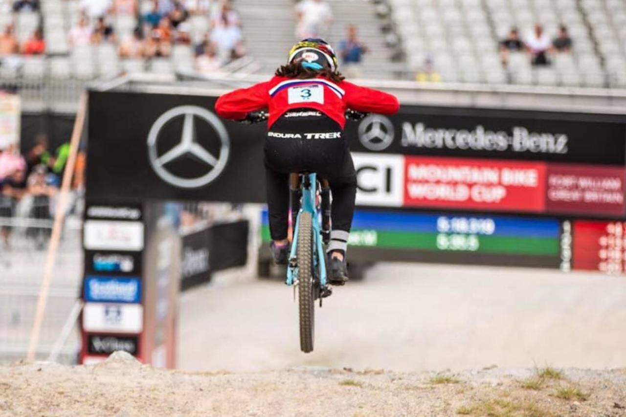Mille Johnset er en av tre norske som stiller i helgas utfor-verdenscup i La Bresse i Frankrike. Foto: Sven Martin