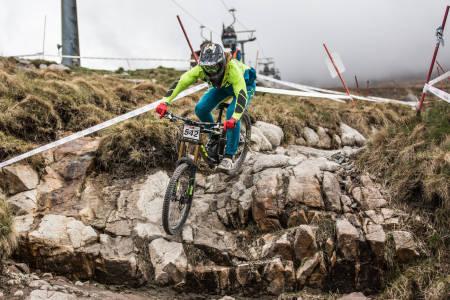 Brage Vestavik kom på 9.plass i verdenscupen i Fort William i Skottland. Foto: Yasmeen Green/BDS