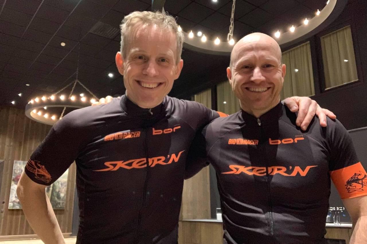 Lagkameratene Vidar Olsen og Stian Ulberg debuterte til seier i hver sin klasse i Fat Viking 2019. Foto: Team Skørn