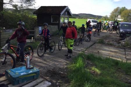 Stor stas med sesongstart i Kristiansand Sykkelpark. Foto: Hilde Sangesland Strædet