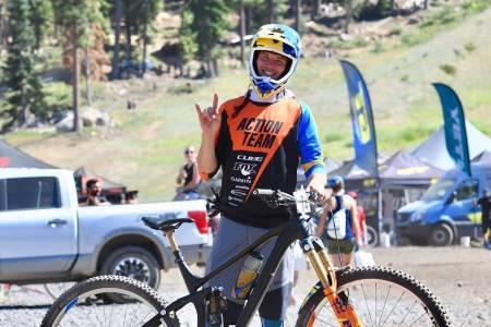 Zakarias Blom Johansen slet seg til 16 plass på Enduro World Series runden i Northstar i California i helga, men har nå topp-10 sammenlagt innen rekkevidde. Foto: Cube Action Team
