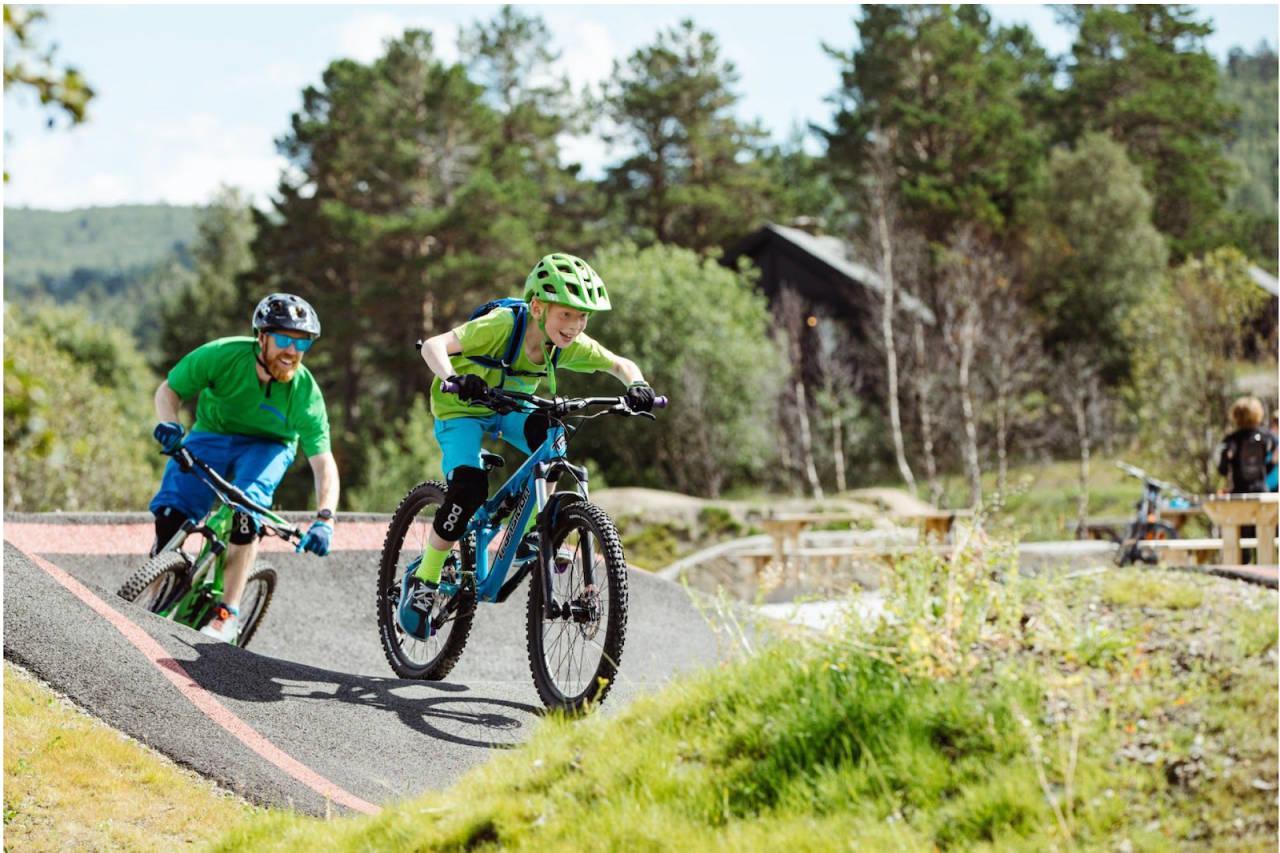 Pumptrack konkurranse i Vestlia Sykkelpark på Geilo