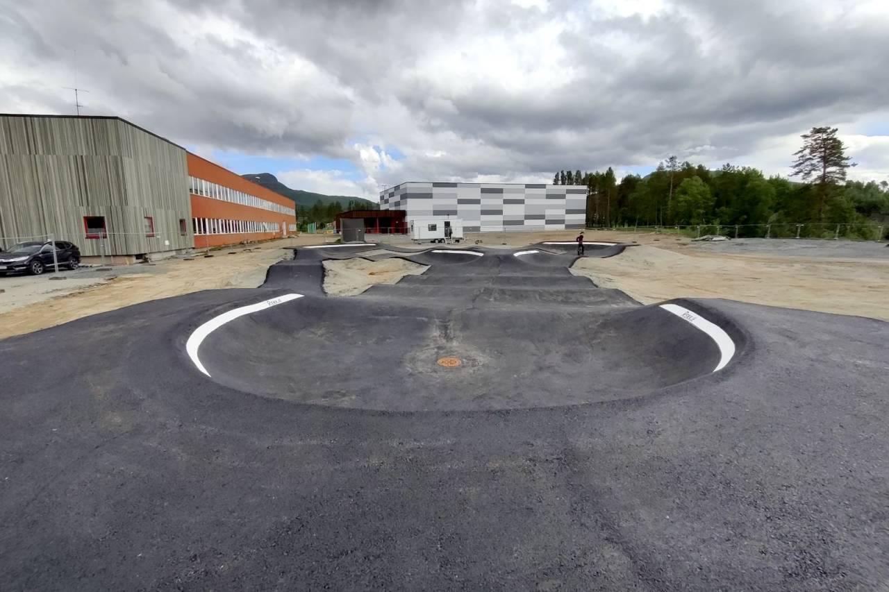 pumptracken ved Olborg skole i Målselv i Troms