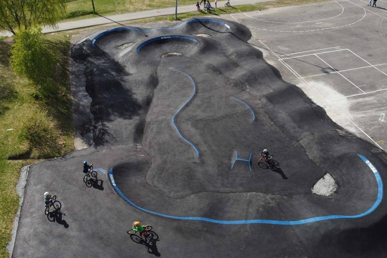 pumptrack skien stigeråsen sykkelpark