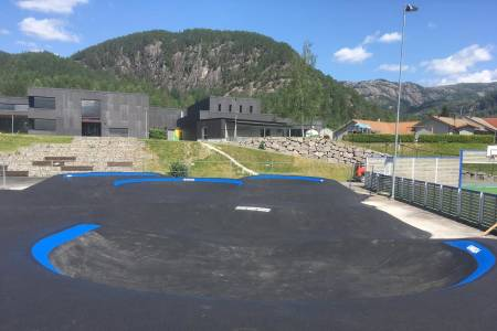 Pumptracken på Tonstad i Sirdal