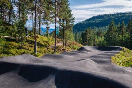 SMUD: Pumptracken i Hydlaparken ble ferdigstilt i 2019. Foto: Ole Eltvik