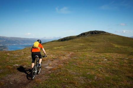 Grønnlibruna er en lett og fin topptur utenfor Tromsø. / Stisykling i Norge.