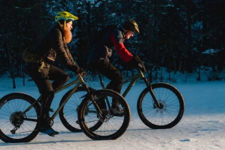 Gode tips til vintersykling av ekspertene Aslak Mørstad og Øyvind Aas. Bilde: Christian Nerdrum