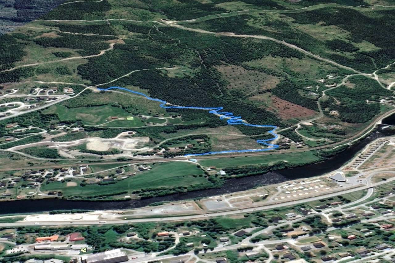 Bygger 1.5km blågradert sykkelsti i Ål