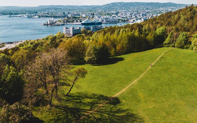 OSLOMARKA: Oslo er omgitt av skog i øst, vest og nord. Tar med Ekeberg som en del av Østmarka, så er det utvilsomt den mest sentrumsnære marka vi har. Bilde: Christian Nerdrum