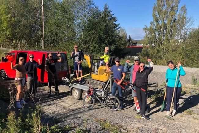 Nylendlia den nye sykkelparken i Lillestrøm