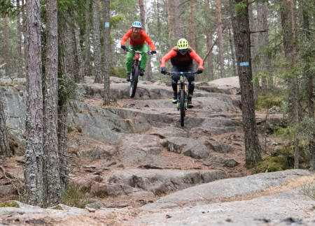 FART ELLER MORO? Det er mye å lære når Brage Vestavik og Aslak Mørstad tar en prat om hvordan de velger den linjen de gjør. Foto: Christian Nerdrum