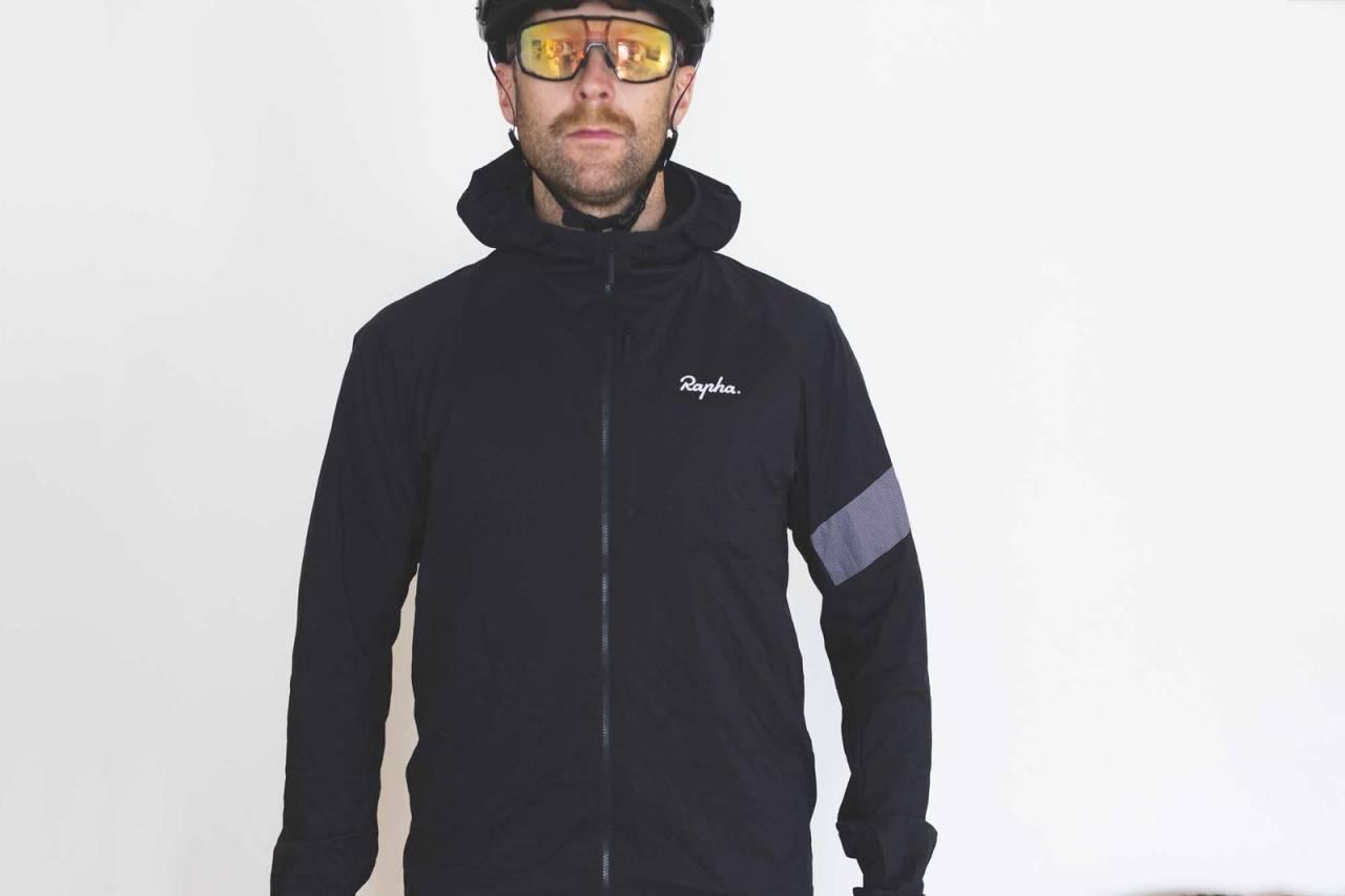 rapha terrengsykkel vindjakke lightweight trail jacket test