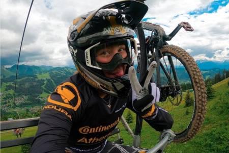 Mille Johnset syklet inn til fjerdeplass i utforverdenscupen i Les Gets