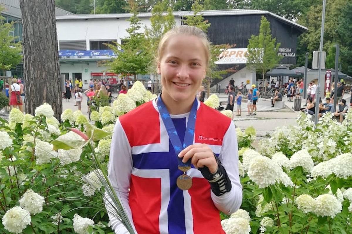 Kine Haugom kom på tredjeplass i utfor-EM