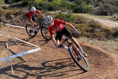 Erik Hægstad på femteplass i fredagens UCI-rundbaneritt i Hellas