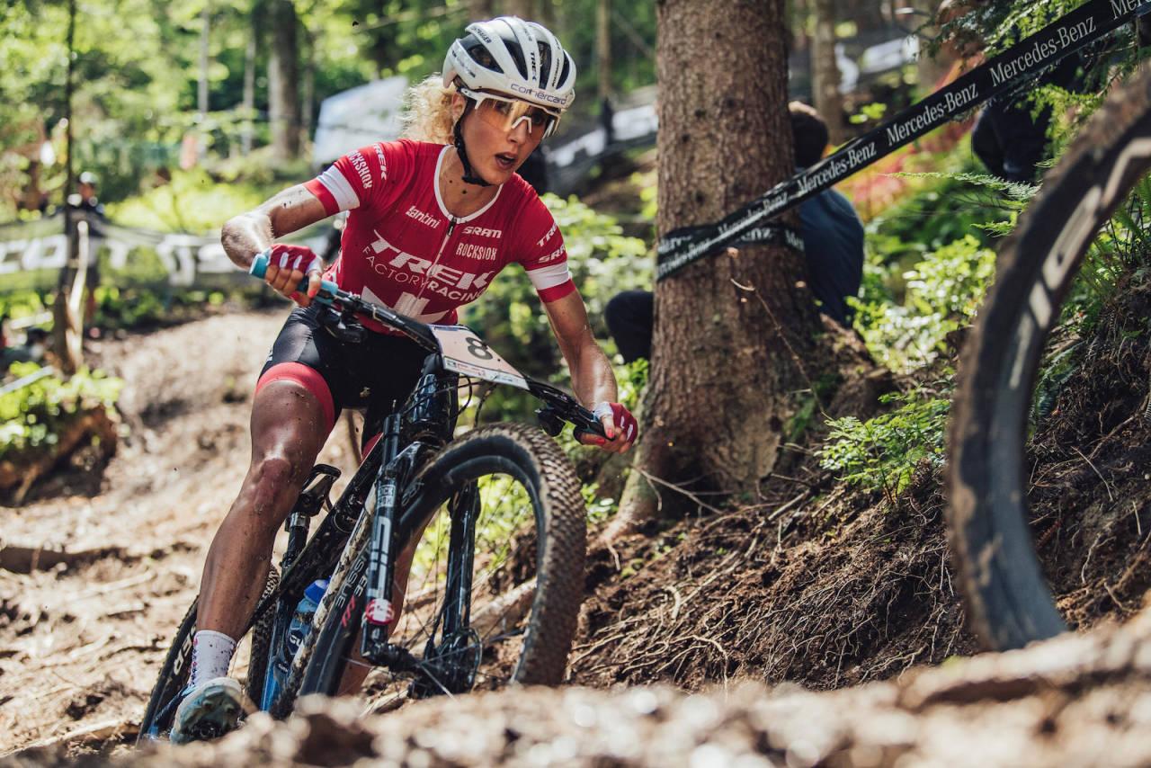 Jolanda Neff vant kvinnenes rundbaneritt i OL I Tokyo.