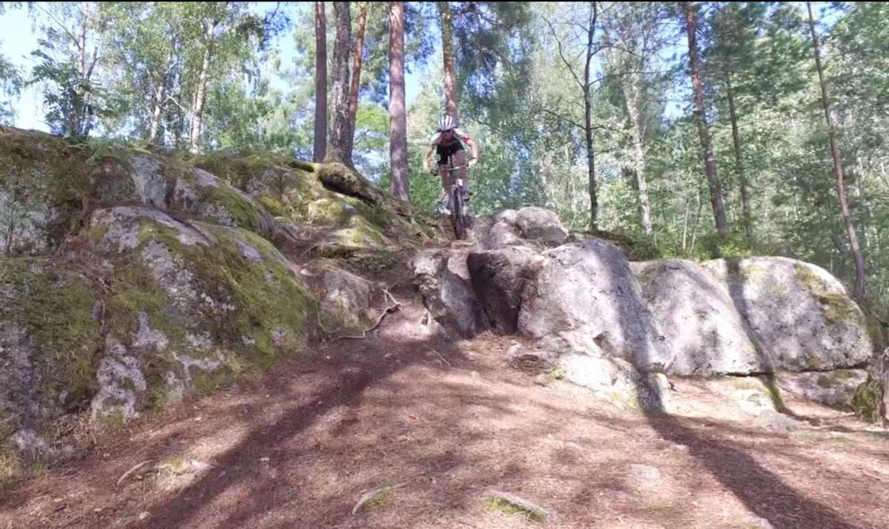 Løypa til Oslo Terrengsykkelfestival på Skullerud