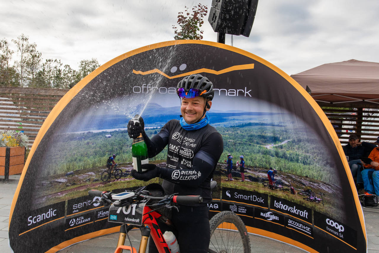 Tor Espen Jolma vant soloklassen i Offroad Finnmark OF700