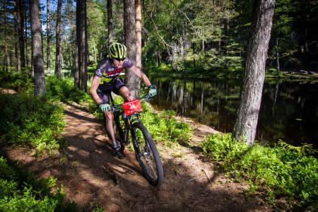 NUMMER TO: Lars Granberg har alltid hatt Terrengsykkelrittet som et av sine hovedmål.I år måtte han ta til takke med andreplass for andre år på rad.