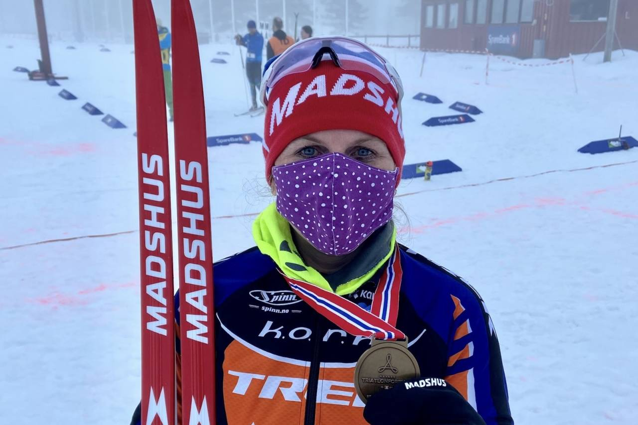 NM vintertriathlon 2021 Elisabeth Sveum