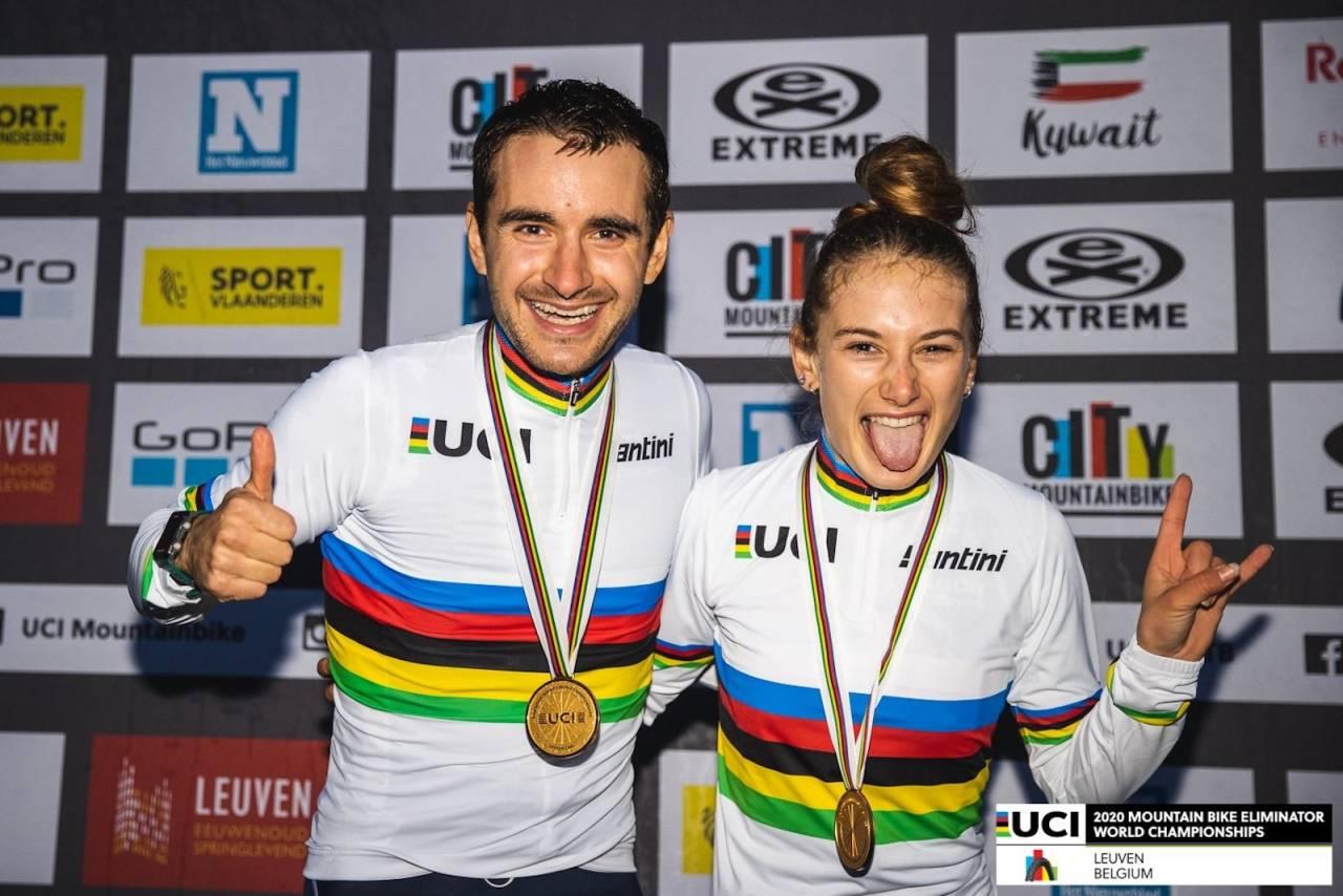 Titouan Perrin Ganier og Isaure Medde vant sprint-VM 2020