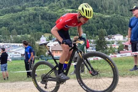 VM-DEBUTANT: Mats Tubaas Glende ble nummer 18 i U23-VM i Val di Sole i Italia lørdag formiddag. Foto: Ingvild Wollebek