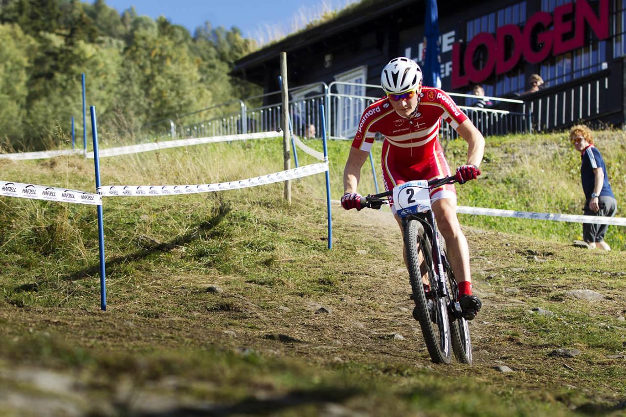 DANSK DYNAMITT: Simon Andreassen var overlegen i junior-rittet og kunne kontrollere inn til seier, til tross for en punktering på siste runden. Foto: Kristoffer H. Kippernes