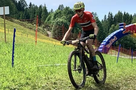 Tubaas Glende kom på 14.plass i verdenscuprittet i Leogang