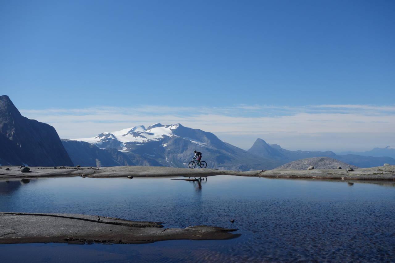 drømmeferie i Norge på stisykkel