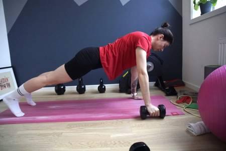 Joline Johansson bruker vinteren til styrketrening