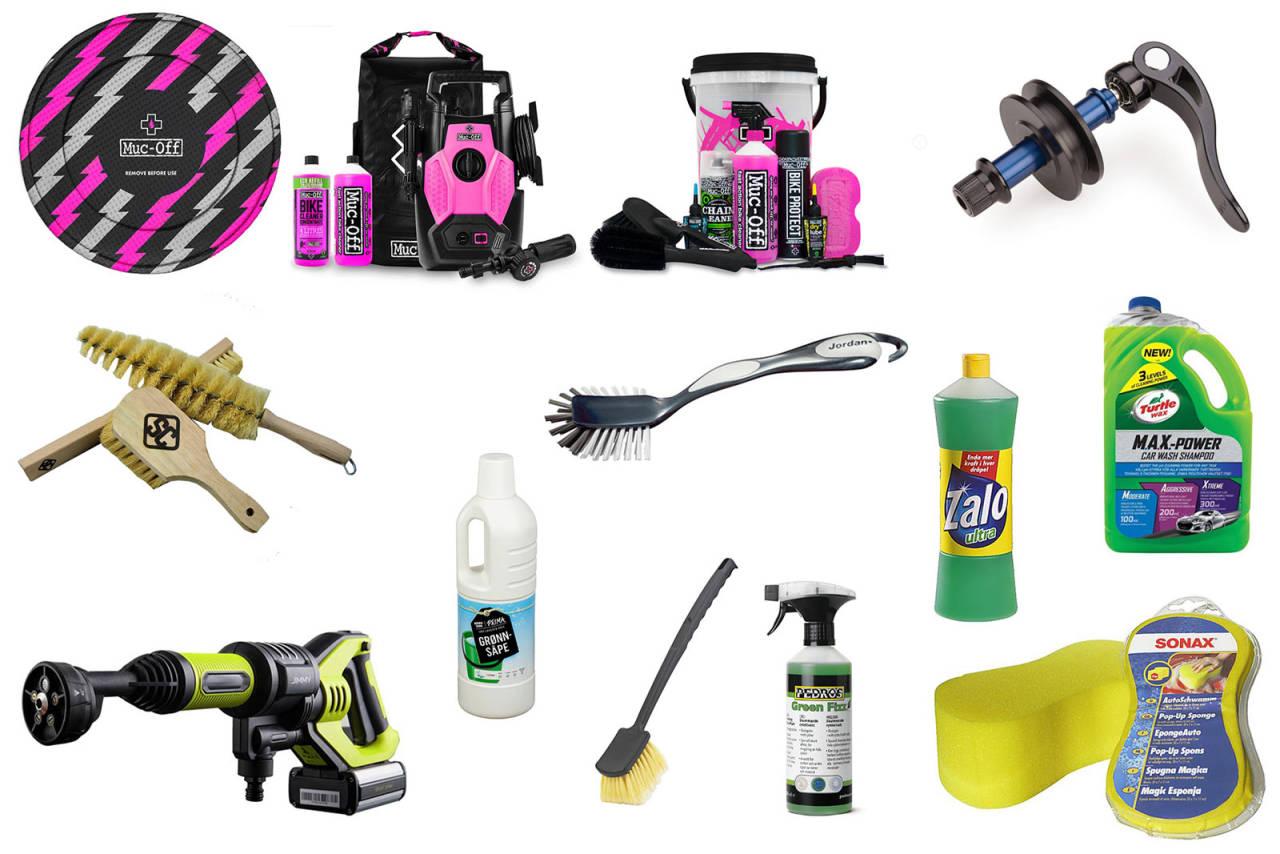 utstyr for å vaske sykkel