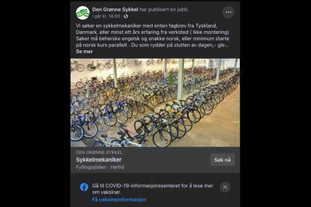 den grønne sykkel korona vaksine