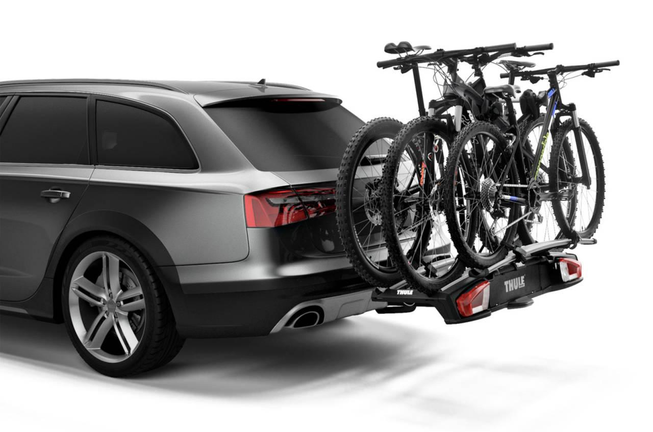 sykkelstativ elsykkel bil hengerfeste thule biltema