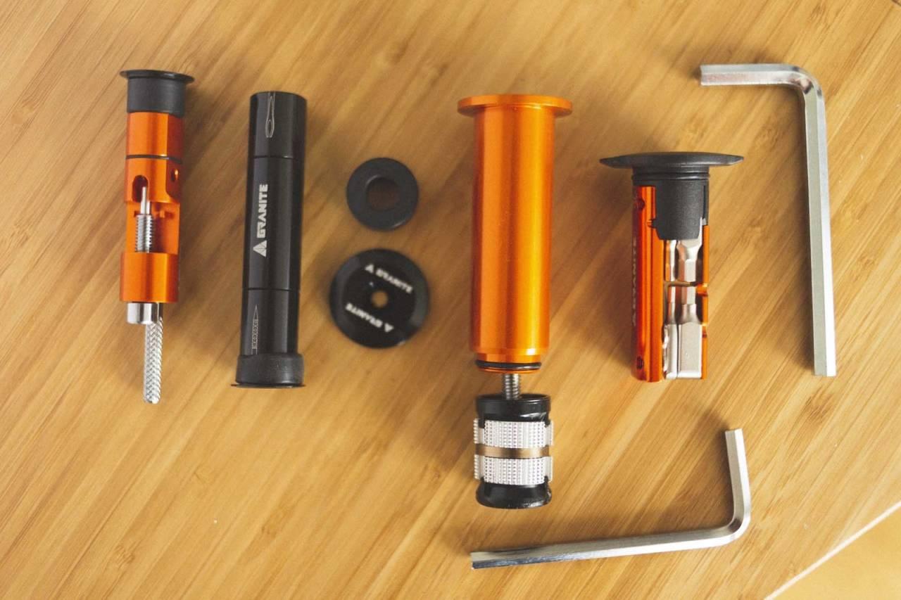 test granite design stash sykkelverktøy miniverktøy multiverktøy