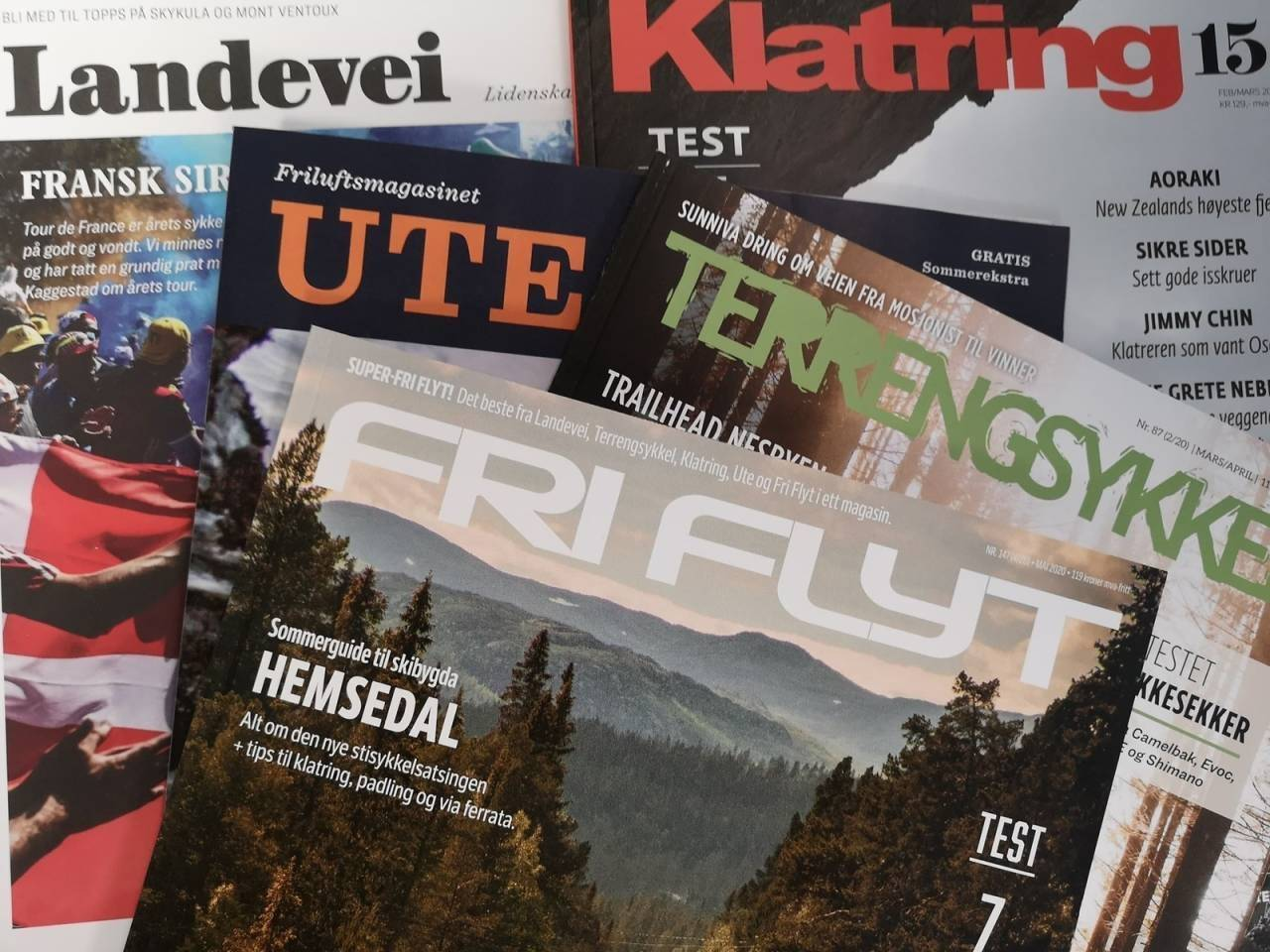 terrengsykkel papir digitalt abonnement