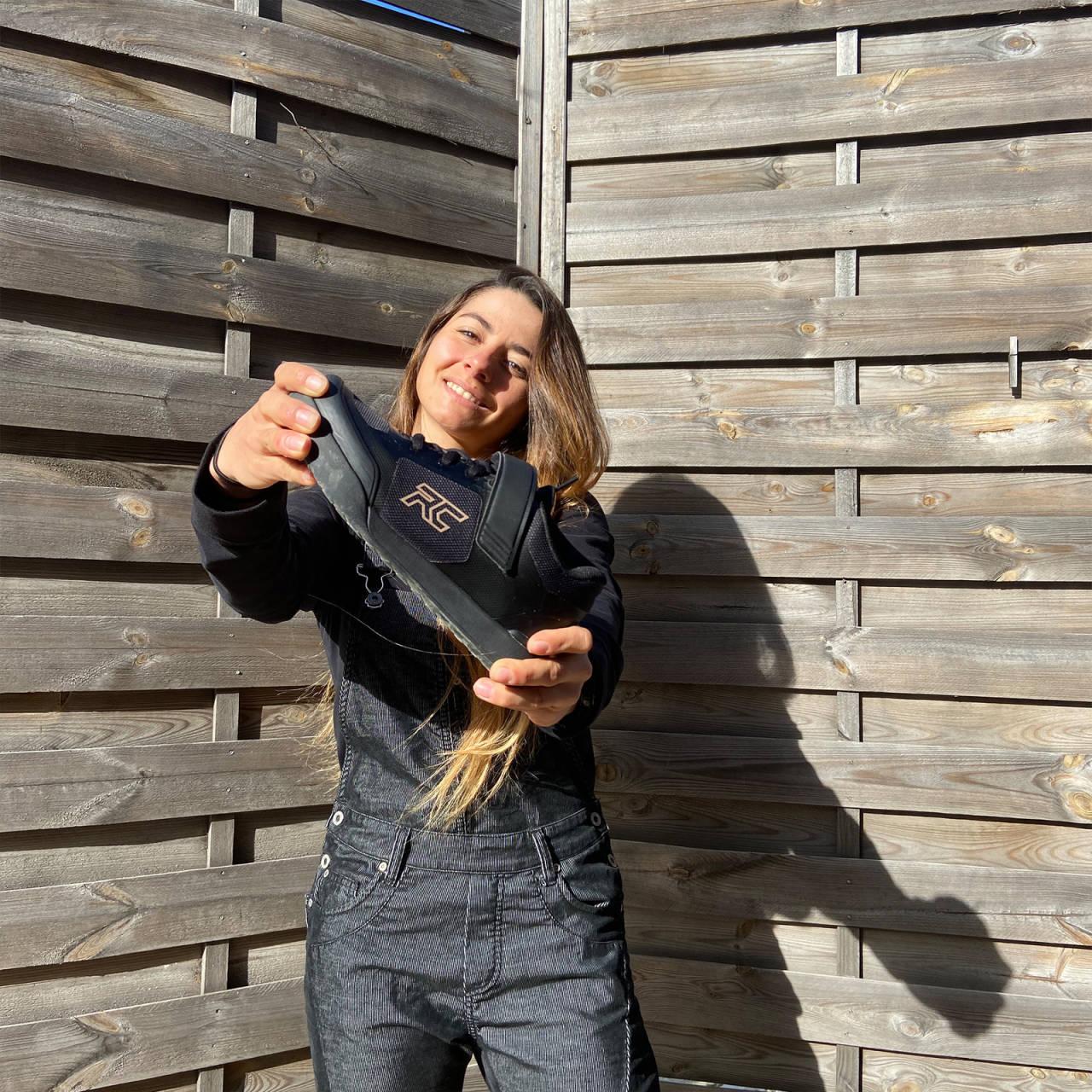 VERDENSMESTER: Fjorårets EWS-vinner Isabeau Cordurier fronter Ride Concepts satsing på enduro i 2020.