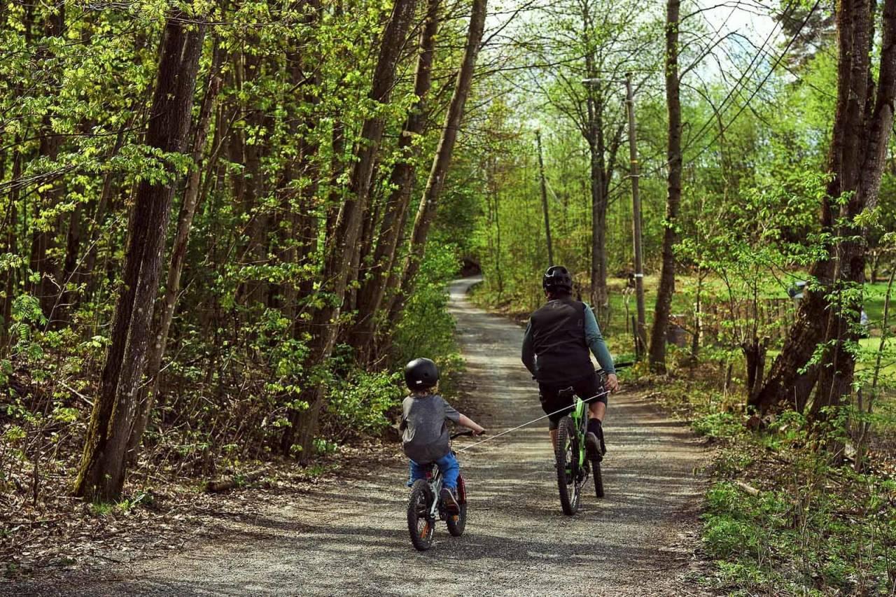 kidreel sykle med barn tau